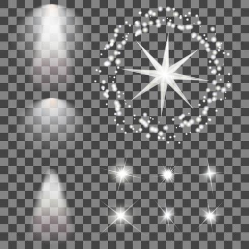 Leuchtende Lichter und Sterne