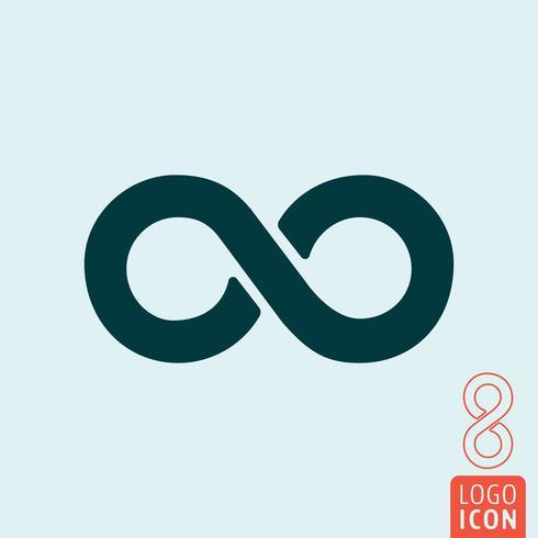 Icono de infinito aislado vector