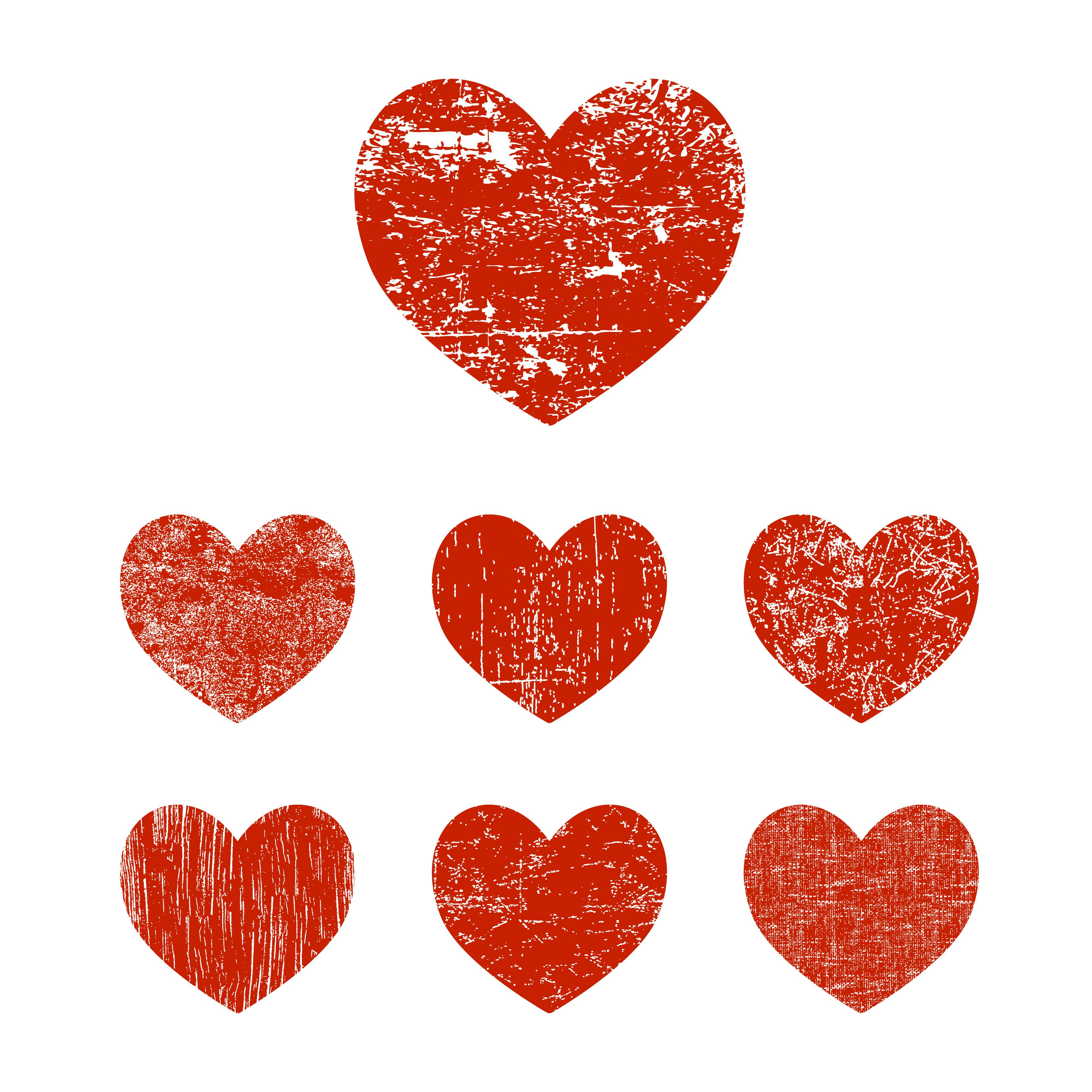 Set grunge heart - Download Free Vectors, Clipart Graphics ...