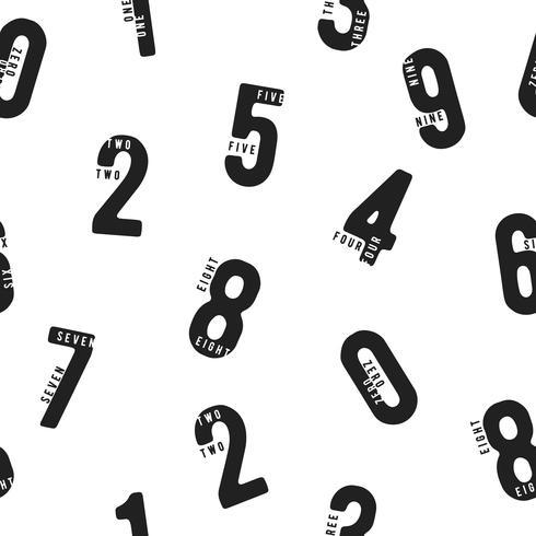 Sömlöst mönster med siffror