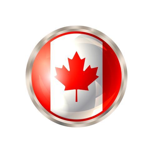 Pulsante Canada isolato vettore