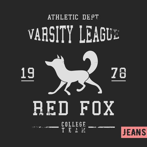 Fox vintage stamp vector