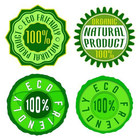 Sello ecológico vector