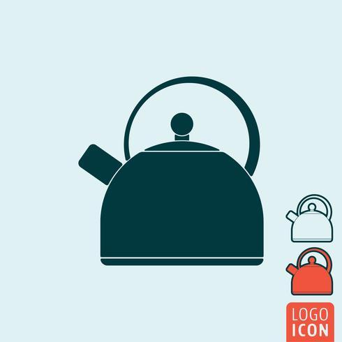 Icono de la caldera aislado
