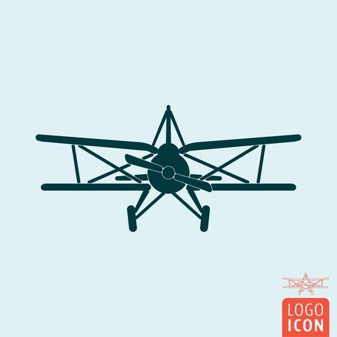 Icono de plano aislado vector