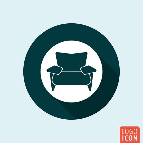 Armchair icon isolated
