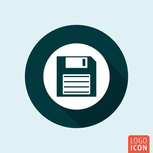 Diskette icon isolated