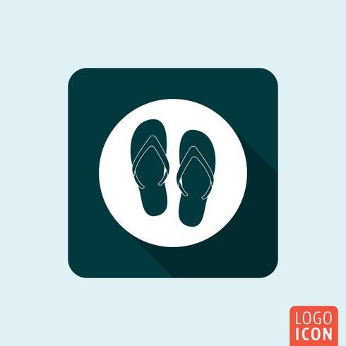 Icona di flip flop isolata
