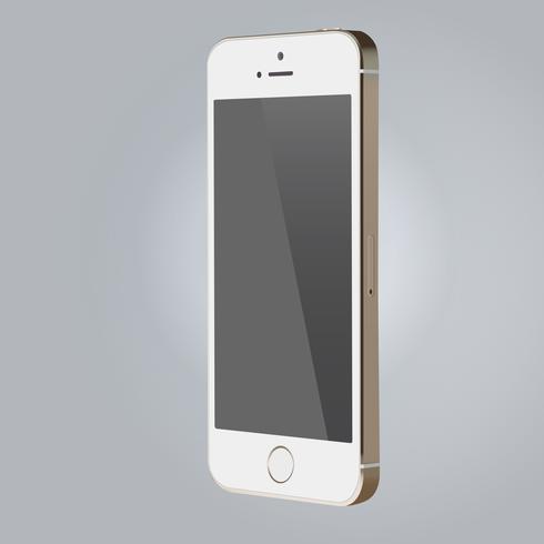 Realistische mockup witte kleurensmartphone van het apparaten