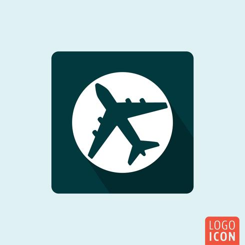 Plane icon isolated vector