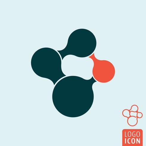 Ícone de molécula isolado vetor