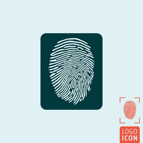 Icona dell'impronta digitale isolata