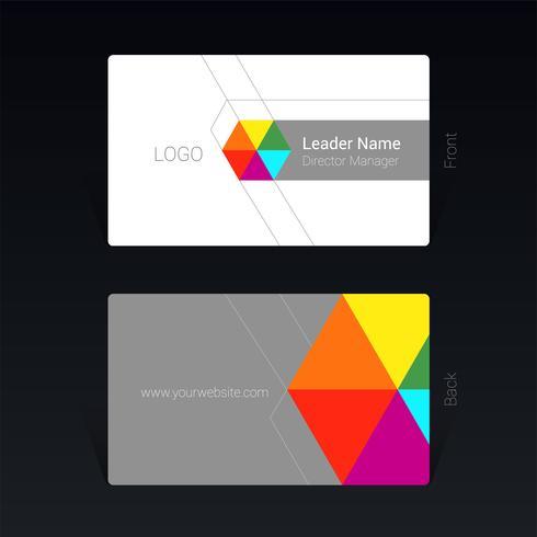 Concept de design coloré de carte de visite Illustration vectorielle