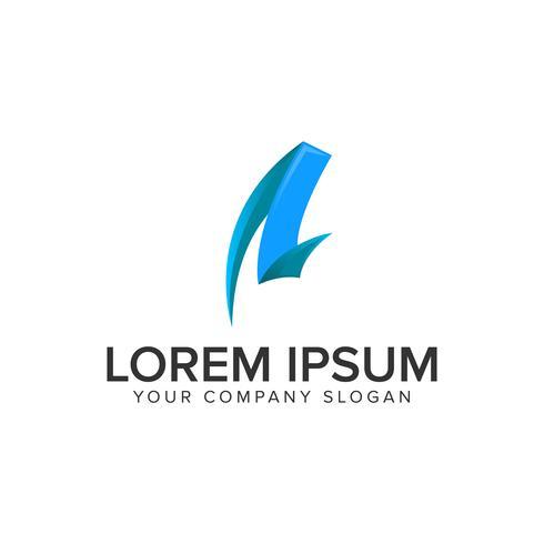 kreativt brev En logotypkonceptkonceptmall. fullt redigerbar v