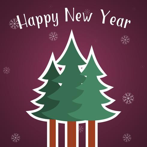 Gelukkig Nieuwjaar kaartsjabloon