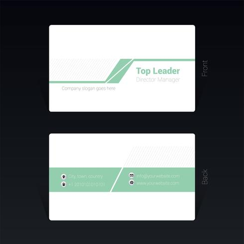 Mininamal  business card design concept Vector Illustration