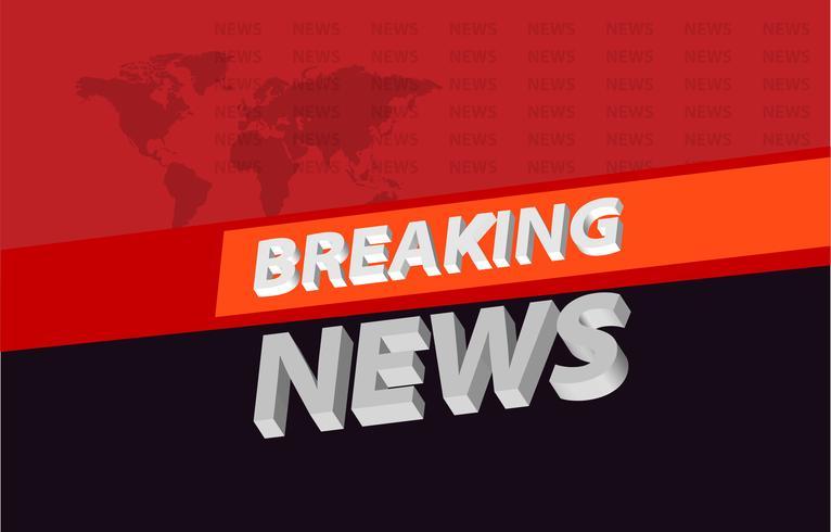 Grafisk 3d breaking news bakgrund på orange band koncept serie 05
