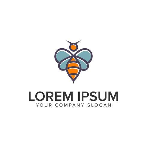 modèle de concept de conception abeille logo.