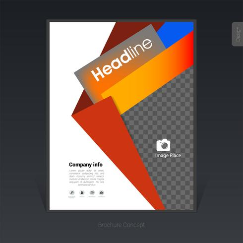 Kreative bunte Geschäftsbroschüre, Abdeckungsdesignschablone, Flieger - Vector Illustration