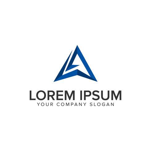 Creativo letra moderna una plantilla de concepto de diseño de logotipo. totalmente edi vector