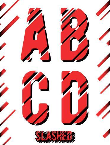 Gesneden lettertype sjabloon
