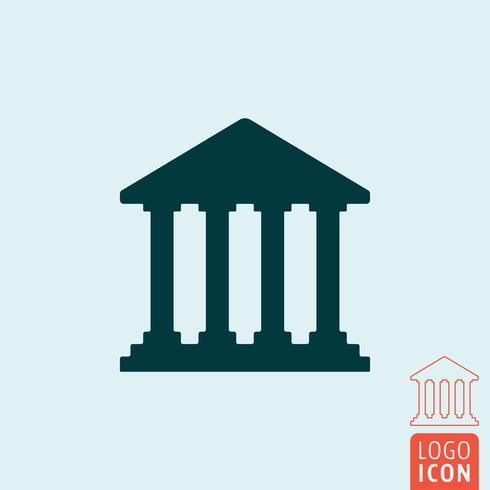 Icono de banco aislado