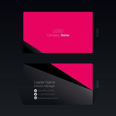 Visitkort geometrisk designkoncept Vektorillustration