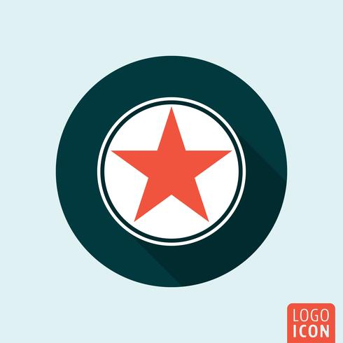 Star icon isolated vector