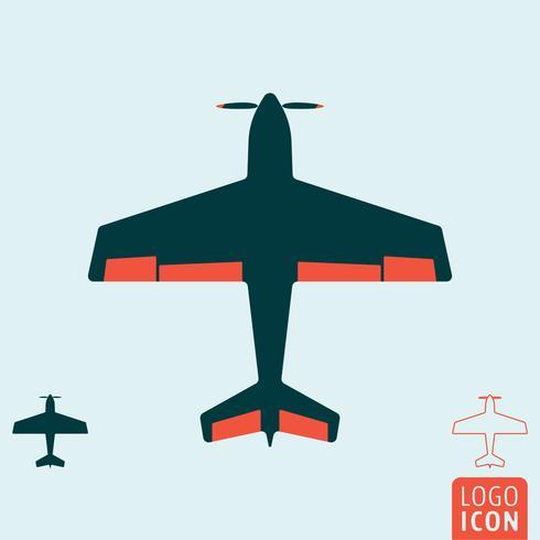 Flygplansikonen isolerad