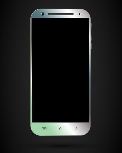 Modèle de smartphone isolé vecteur