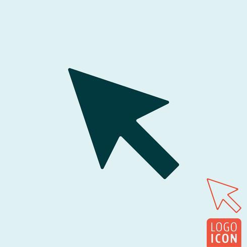 Markörsymbol isolerad vektor