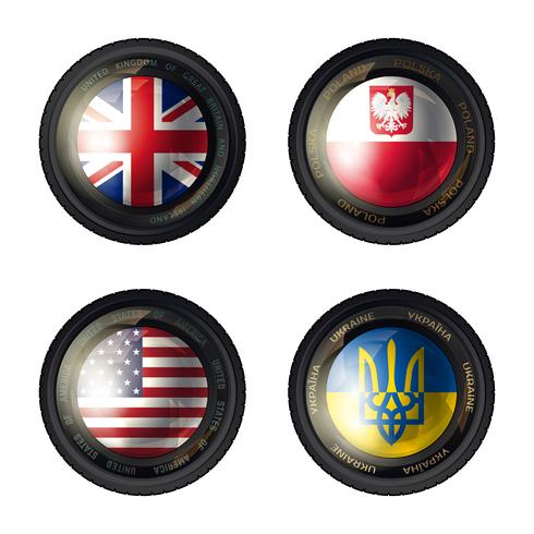 Camera lens flag