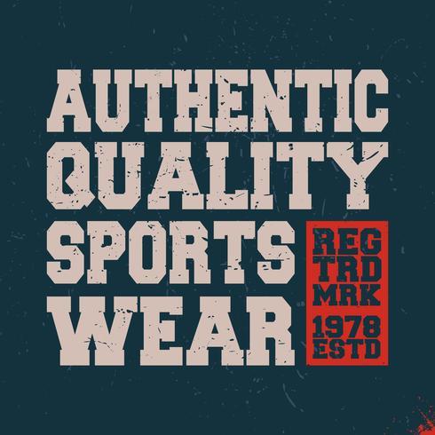 Sportswear vintage stamp