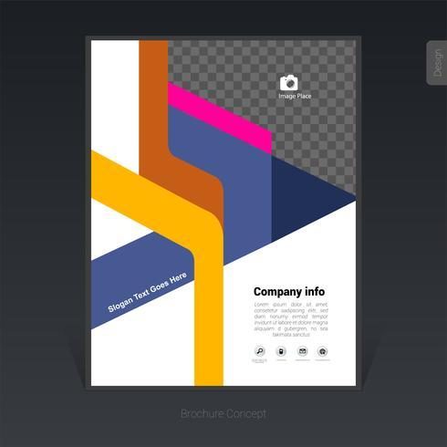 Folleto de negocios colorido geométrico, diseño de portada, folleto - Ilustración vectorial