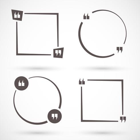 Cotizar conjunto cuadrado vector