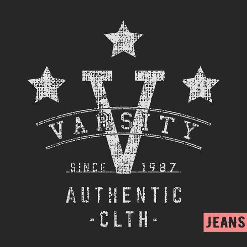 Varsity Sterne Vintage Stempel
