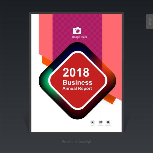Brochure de l'entreprise colorée géométrique, conception de la couverture, flyer - Illustration vectorielle