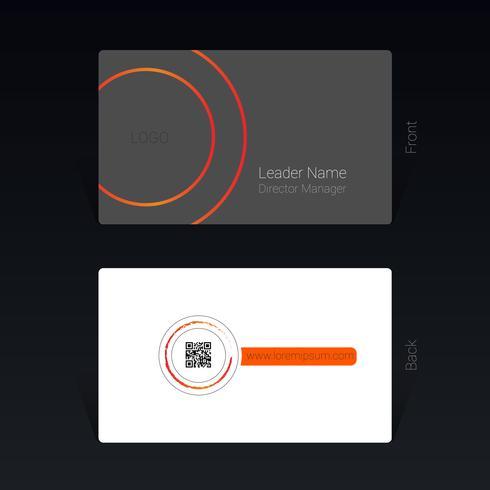 Concept de design de carte de visite Illustration vectorielle