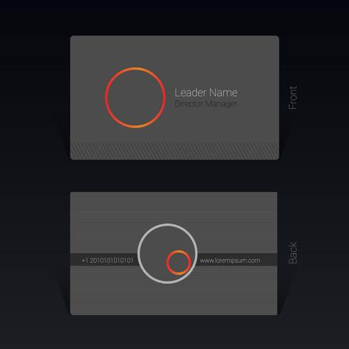 Visittkortdesignkoncept Vektorillustration