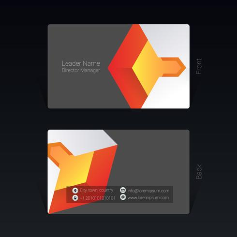 Business card geometric design concept Vector Illustration
