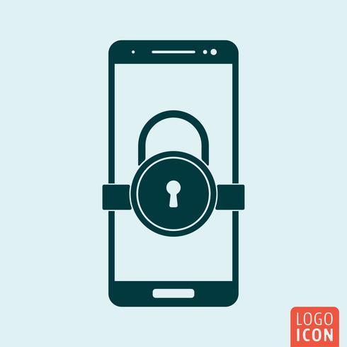 Smartphone vergrendelingspictogram