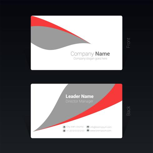 Business card design concept Vector Illustration