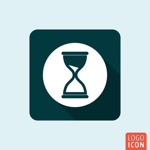 Hourglass icon isolated