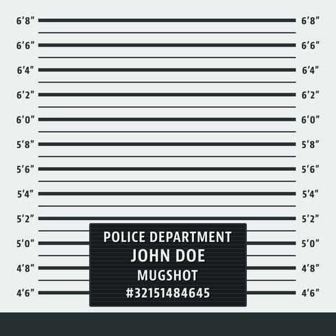 Fundo de mugshot policial