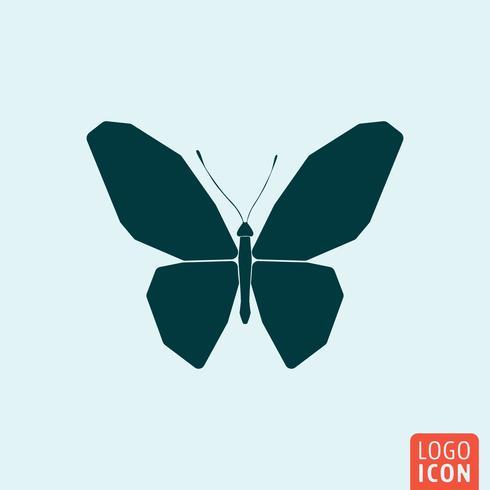 Butterfly-pictogram minimaal ontwerp