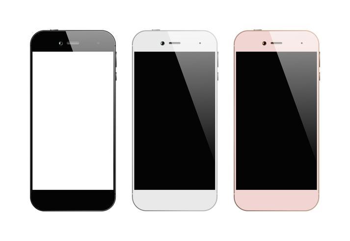 Smartphone a tre colori vettore