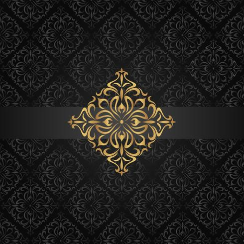 Abstrakt mörkt sömlöst mönster med gyllene element