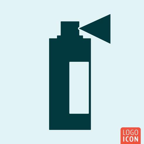 Sprühen Sie Symbol. Minimales Icon-Design