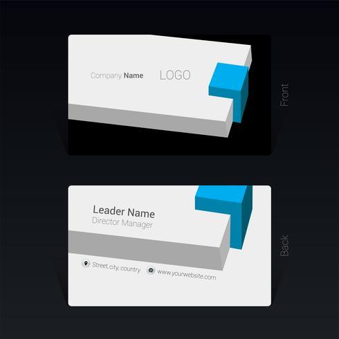 Business card design concept Vector Illustration