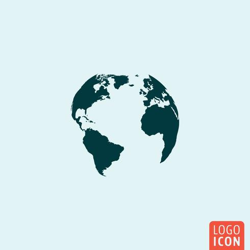 Earth globe pictogram